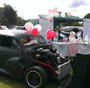 Cars at the Abbies Fund stall at Hull Motor Show